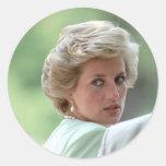 Princesa Diana Hungría 1990 Pegatina Redonda