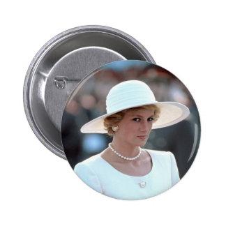 Princesa Diana Hungría 1990 Pin Redondo De 2 Pulgadas
