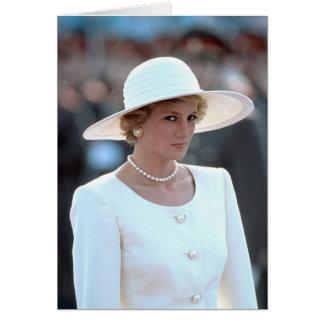 Princesa Diana Hungría 1990 Tarjeta De Felicitación