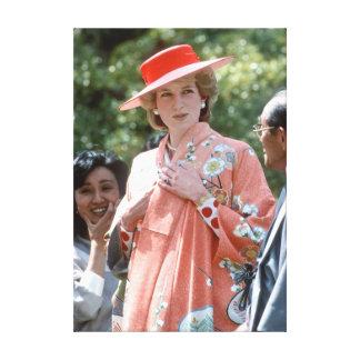 Princesa Diana Japón 1986 de HRH Lona Envuelta Para Galerias
