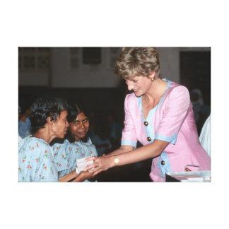 Princesa Diana la India 1992 Impresión En Lienzo
