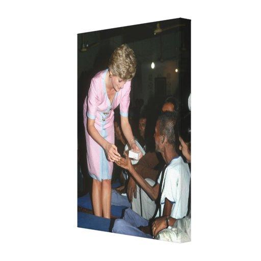 Princesa Diana la India 1992 Impresión En Lienzo Estirada