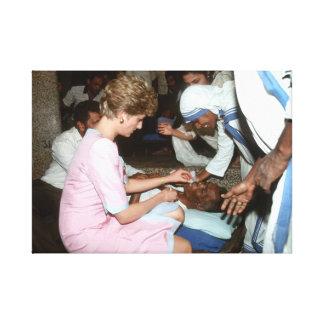Princesa Diana la India 1992 Impresión En Lona