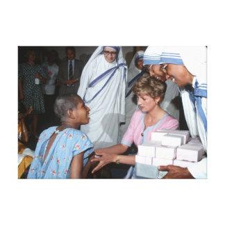 Princesa Diana la India 1992 Lona Estirada Galerias