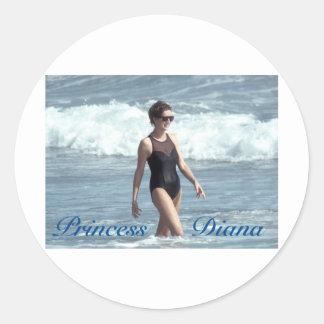 Princesa Diana Nevis 1993 Pegatina Redonda