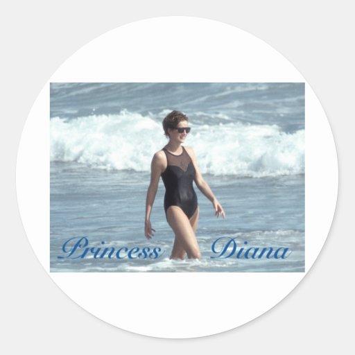 Princesa Diana Nevis 1993 Pegatinas