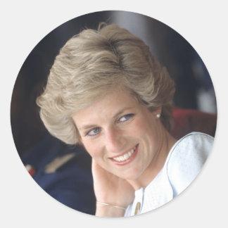 Princesa Diana Nigeria Pegatinas Redondas
