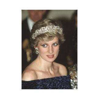 Princesa Diana Portugal 1987 Lienzo Envuelto Para Galerias