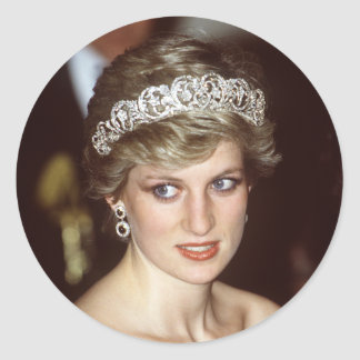 Princesa Diana Portugal Etiqueta Redonda