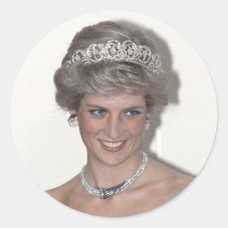 Princesa Diana Sparkles en Alemania Pegatina Redonda
