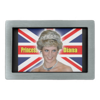 ¡Princesa Diana Stunning de HRH! Hebillas Cinturon Rectangulares