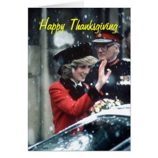 Princesa Diana Thanksgiving Card Tarjeta De Felicitación