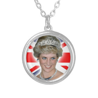 Princesa Diana Union Jack de HRH Colgante Redondo