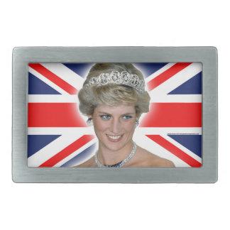 Princesa Diana Union Jack de HRH Hebillas De Cinturón Rectangulares