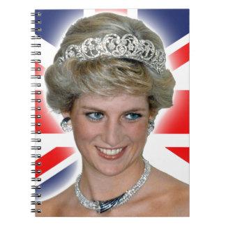 Princesa Diana Union Jack de HRH Libretas Espirales