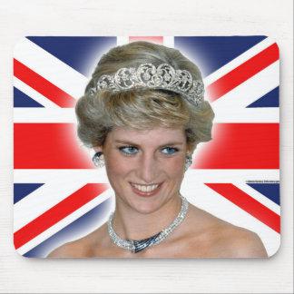 Princesa Diana Union Jack de HRH Mousepads