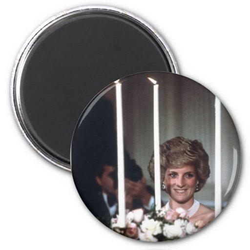 Princesa Diana Washington 1985 Imanes Para Frigoríficos