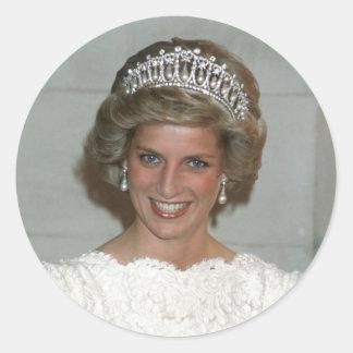 Princesa Diana Washington 1985 Pegatina Redonda