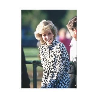 Princesa Diana Windsor 1985 Impresión En Lienzo