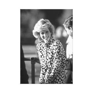 Princesa Diana Windsor 1985 Impresión En Lona