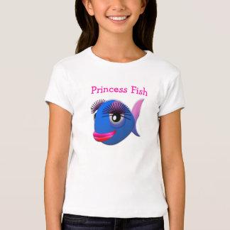 Princesa divertida linda Fish del dibujo animado Playera