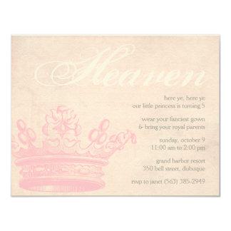 """Princesa divina Invitations Invitación 4.25"""" X 5.5"""""""