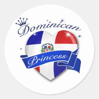 Princesa dominicana pegatinas redondas