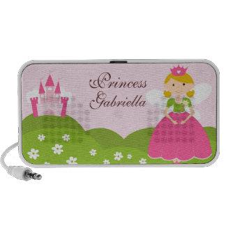 Princesa Doodle Custom Speakers Personalized Altavoz De Viaje