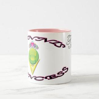 Princesa Dos-Tono Mug del tenis Taza De Café