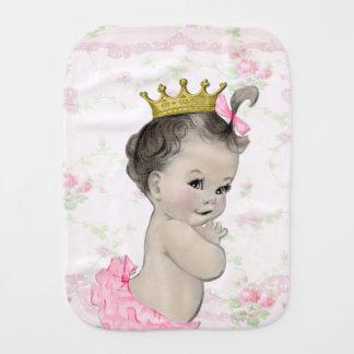 Princesa dulce del rosa del vintage paños de bebé