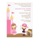 Princesa e invitaciones rosadas del pirata invitación personalizada