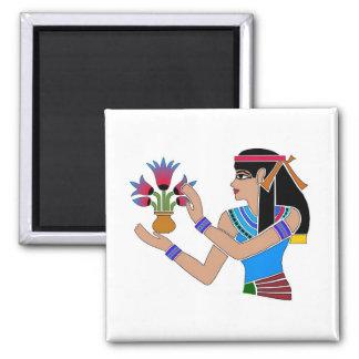 Princesa egipcia - 03 imán cuadrado