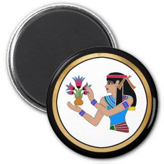 Princesa egipcia - 03 imán redondo 5 cm