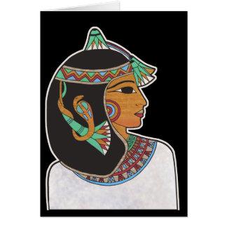Princesa egipcia tarjeta de felicitación