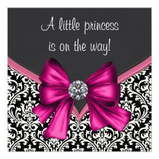 Princesa elegante fiesta de bienvenida al bebé del comunicados personales