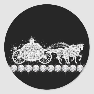Princesa elegante Stickers del carro del diamante Pegatina Redonda