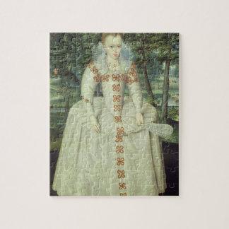 Princesa Elizabeth (1596-1662) 1603 (aceite en lon Puzzle Con Fotos