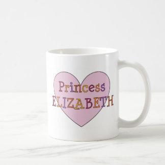 Princesa Elizabeth Taza Básica Blanca