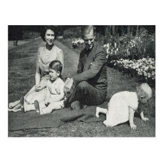 Princesa Elizabeth y familia 1951 Postal