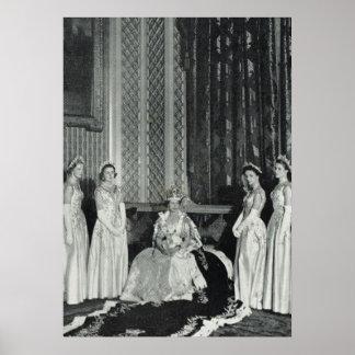 Princesa Elizabeth y sus damas de honor Poster