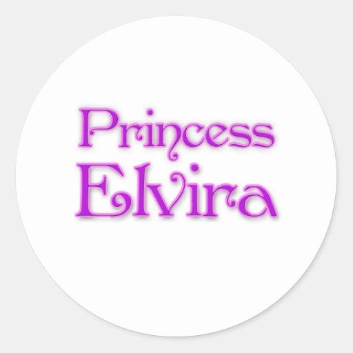 Princesa Elvira Etiqueta Redonda