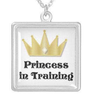 Princesa en collar del entrenamiento