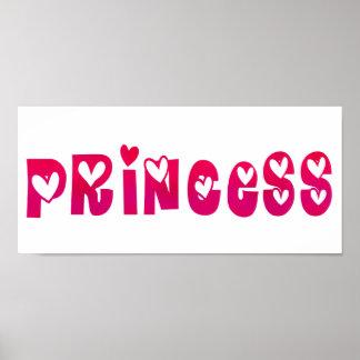 Princesa en corazones póster