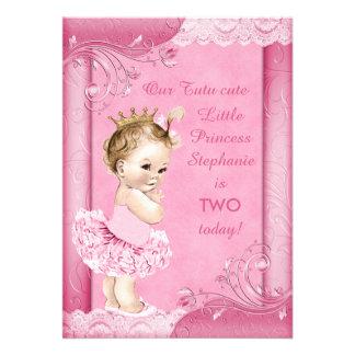 Princesa en cordón del 2do cumpleaños del bebé del comunicado personal