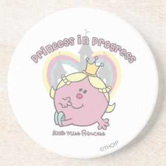 Princesa en curso posavasos de arenisca
