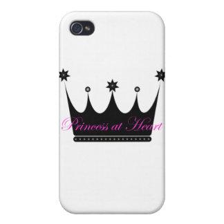 Princesa en el corazón iPhone 4 funda