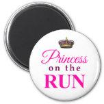 Princesa en el funcionamiento imán de nevera