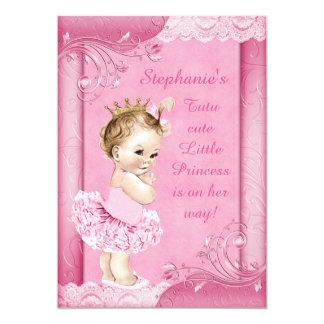 Princesa en falsa fiesta de bienvenida al bebé del invitación 12,7 x 17,8 cm