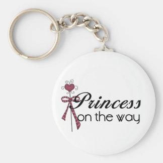 Princesa en la manera - modificada para requisitos llavero redondo tipo pin