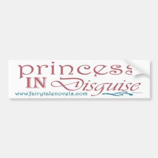 Princesa en pegatina para el parachoques del disfr etiqueta de parachoque